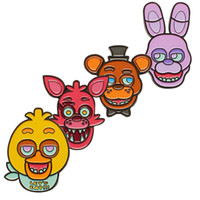 barneys gifts - Prettybaby Five Nights At Freddy s figure face brooches Barney Chica Foxy Freddy FNAF oil dripping Brooch Pins Pt0394 mi