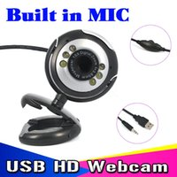 Wholesale T USB M HD Camera with Microphone Mega Pixel Web Cam LED HD Webcam Camera MIC FOR PC LAPTOP