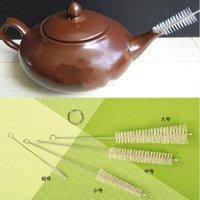 Wholesale 4 High quality specifications of nylon brush stainless steel teapot cup bottle brush brush bottle brush sets