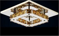 Wholesale Chandeliers K9 Crystal LED W Modern Contemporary LED Bulb Included Electroplated Metal Flush Mount Bedroom V