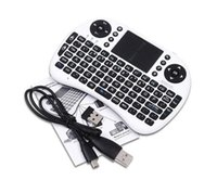 Wholesale Mini i8 Air Mouse Mini Wireless QWERTY Keys Keyboard English Keyboard Mouse Touchpad for PC Notebook Android TV Box hot