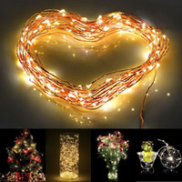 Wholesale 10m LED Outdoor Christmas Fairy Lights Warm White Copper Wire LED Starry Lights String Light lt no tracking