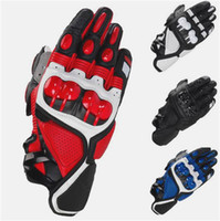 Wholesale MOTOGP Motorcycle Racing S1 Gloves Leather glove Motocross Motorbike Guantes BMX ATV MTB bicycle cycling Motorbike