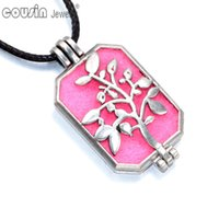 Wholesale DZ0176 New Arrivals styles Perfume magic Pendant Aromatherapy Essential Oil Diffuser leather Pendant Necklaces
