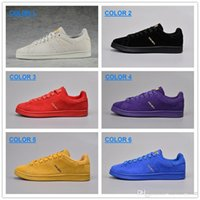 anti flooring - Smith Shoes For Men And Women New anti fur Sneakers superstar Pharrells Williams Supercolors Lovers Smiths Shoes Zapatos Mujer