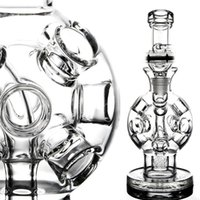 ash bucket - Newest Heady Dab Rigs Bubbler Thick Glass Water Pipes Recycler Fab egg Glass Bongs mm Female Joint With Honey Bucket Ash Catcher Newest