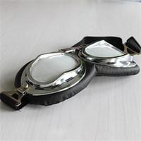 Estilo nuevo estilo de estilo vintage estilo moto gafas de alta calidad al aire libre deportes casco gafas desgaste de los ojos