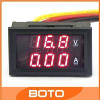 Оптовая Цифровой вольтметр / амперметр Gauge 2в1 DC 4.5-30V / 50A Вольт Ток метр панели Красный светодиод двойной дисплей тестер напряжения # 210033