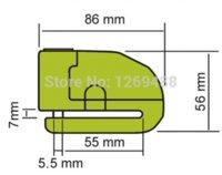 Wholesale 6 mm Green Security Anti Thief Motorbike Motorcycle Wheel Disc Brake alarm lock amp bag and reminder spring cable
