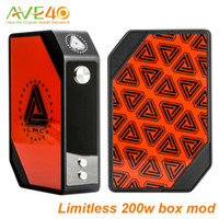authentic wholesale unique - New Limitless W TC Box Mod kits with interchangeable magnetic LMC plate Unique chipest fit two Battery Limitless ATTY RDA Authentic