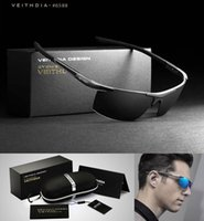 Wholesale 2016 Veithdia Aluminum Magnesium Sunglasses Polarized Sports Men Coating Mirror Driving Sun Glasses oculos Male Eyewear BOX