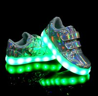 Wholesale Children s USB charging light shoes led colour with light men s shoes on light flash night light movement female children s shoes