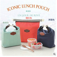 Wholesale Fashion Travel Outdoor Lunch Bag Box Cool Thermal Handbag Food Drinks Ice Packs Isothermic Container Warmer Cooler Carry Picnic Tote Bags