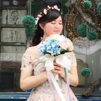 beach high school - Hot Sale Bridal Wedding Bouquet High Quality In Stock Wedding Decoration Artificial Bridesmaid Flowers For Beach Wedding Party WF053