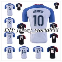 altidore soccer - Top Thai quality America home white jersey DEMPSEY YEDLIN DONOVAN JONES ALTIDORE away black men s football shirt soccer jersey