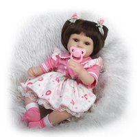 bedtime kids - 45cm New slicone reborn baby doll toy for girls play house bedtime toys for kid lovely newborn girl babies high quality gifts