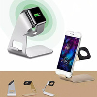 apple ipad watch - Aluminum Universal Charging phone Stand Charger Dock Holder For Apple Watch iPhone S Plus iPad Samsung Galaxy Sony cell phone stand