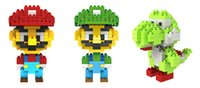 Wholesale Super Mario Bros Toy Figure Model set Luigi Mario Yoshi Building Blocks Game Original Retail Box Gift LOZ NEW