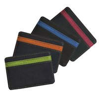Wholesale 4Pcs Unisex Mens Womens Wallet Novelty Faux Leather Magic Credit Card Id Money Clip Slim Wallet Holder