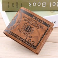 barrel stand - wallet stand US Dollar Bill Wallet Brown PU Leather Wallet Bifold Credit Card Po Thrifty popular Worldwide sale