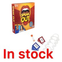 Wholesale DHL IN STOCK Speak Out Game Best Selling Board Game Interesting Party Game