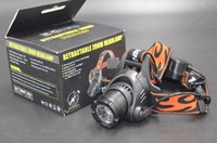 Wholesale Racer Tactical Retractable High Piower lumen zoom headlamp long distance m hiking equipment