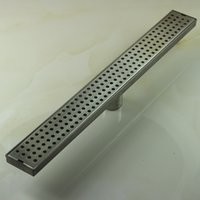 Wholesale PHASAT Stainless Steel S Trap Drains Bathroom Strip Shower Floor Drain Strainer Gravity Flushing And Retail