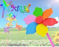 Wholesale 5pcs set EVA Windmill Toys Children s Educational Toys Handmade Art DIY Materials and Craft Materials