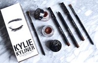 Wholesale BRAND NEW Kylie Cosmetics By Kylie Jenner Kyliner In Black Brown with Eyeliner Gel pot Brush from uprise DHL Free
