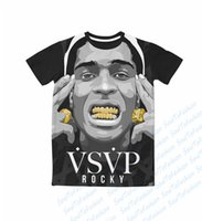 ap s - Real USA Size custom made A AP Rocky Gold Grillz Cocky D Sublimation print T Shirt Plus size