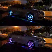 Wholesale 4pcs set Solar Energy Power LED Car Wheel Leds Solar Powered Shinning Wheel Hub Light Waterproof Tire Lamp