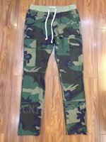 Wholesale fear of god side zipper S XL urban brand clothing chinos kanye west camo camouflage trousers outdoor joggers men cargo pants