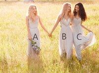beach wear style - Chiffon Cheap Long Bridesmaids Dresses Mixed Styles Beach Boho Wedding Party Guest Gowns Formal Wear W W Custom Made Royal Blue Navy