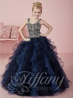 adorn sparkles - Splendid straps are adorned with rhinestones and gold sequins bodice Sparkle tulle ruffled ball gown skirt Little Girls Pageant Dresses