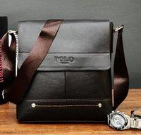 Wholesale New style pu Gentmen s bag sling bag Black men s bag soft handle men s bag