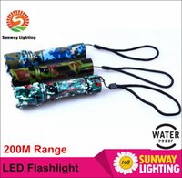 aluminium shine - LED outdoor Flashlights Camouflage appear for Camping M shine range Cree LED modes Aluminium alloy resale package charger