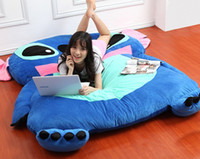 Wholesale Single Foam Beanbag Cartoon Mattress Cushion Plush Pad Tatami Bed Sleeping Bag