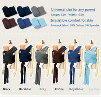 Wholesale New coming fashion design horizontal baby carrier sling baby mini wrap elastic straps sling safety infant sleepwrap
