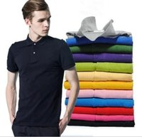 Wholesale S XL polo shirt fashion Men s bottoming polo shirt loose cotton women lapel shirt short sleeve T shirt foreign trade