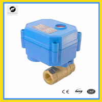 Wholesale CWX S DN25 brass way motorized ball valve AC DC9 v CR04 two wires electric ball valve with manual override function for leakage