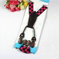 Wholesale Cute Adjustable Child Clip on Pants Y back Suspender Braces Elastic Kid Toddler Belts