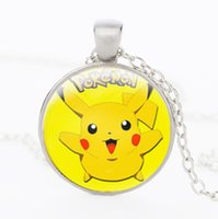 Wholesale Vintage Retro Silver Bronze Black Poke go Pikachu Pendant Necklace Poke mon Pikachu Jewelry Valentine s Day Jewelry