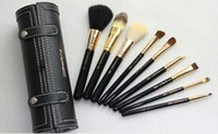 Wholesale DHL Hot new M A Brand makeup Brushes set Professional brush with leather bucket