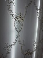 Wholesale Transparent gauze shade white yarn spun gold mention lace lace white rural living room white custom window curtain window screen