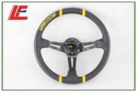 Wholesale Details about quot MM MO Black Steering Wheel PVC Leather Steering Wheel Yellow string new