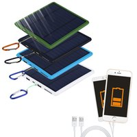 Wholesale New mAh Waterproof double USB Solar Panel Power Bank Solar Charger For Cell Phone