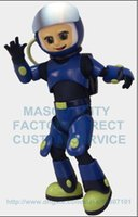 astronaut dress - High Quality Custom Astronaut Boy Mascot Costume Adult Cartoon Character for School College Carnival Aerospace Theme Fancy Dress