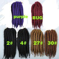 Wholesale Hot Sell Havana Mambo Twist Crochet Braids Hair Inch Senegalese Synthetic Crochet Twist Jumbo Braiding Hair Extensions
