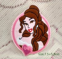 belle patches - Princess Belle Motif Iron On Sew Embroidered Cartoon Patch Beauty And The Beast Kids Gift Shirt Bag Cap scarf Decorate Individuality Badge