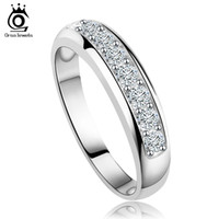 Solitaire Ring austria ring - New Arrival Luxury Austria Crystal Silver Ring Sterling Silver Layer Platinum Plated Silver Ring Supplier OR24